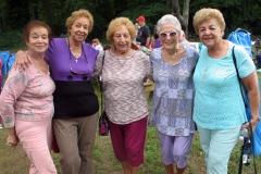 Picnic participants pose for a photo