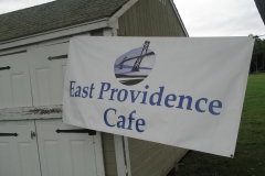 East Providence Cafe sign hanging at the picnic